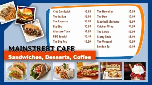 Menu Board Template Powerpoint Unique Digital Signage and Menu Boards