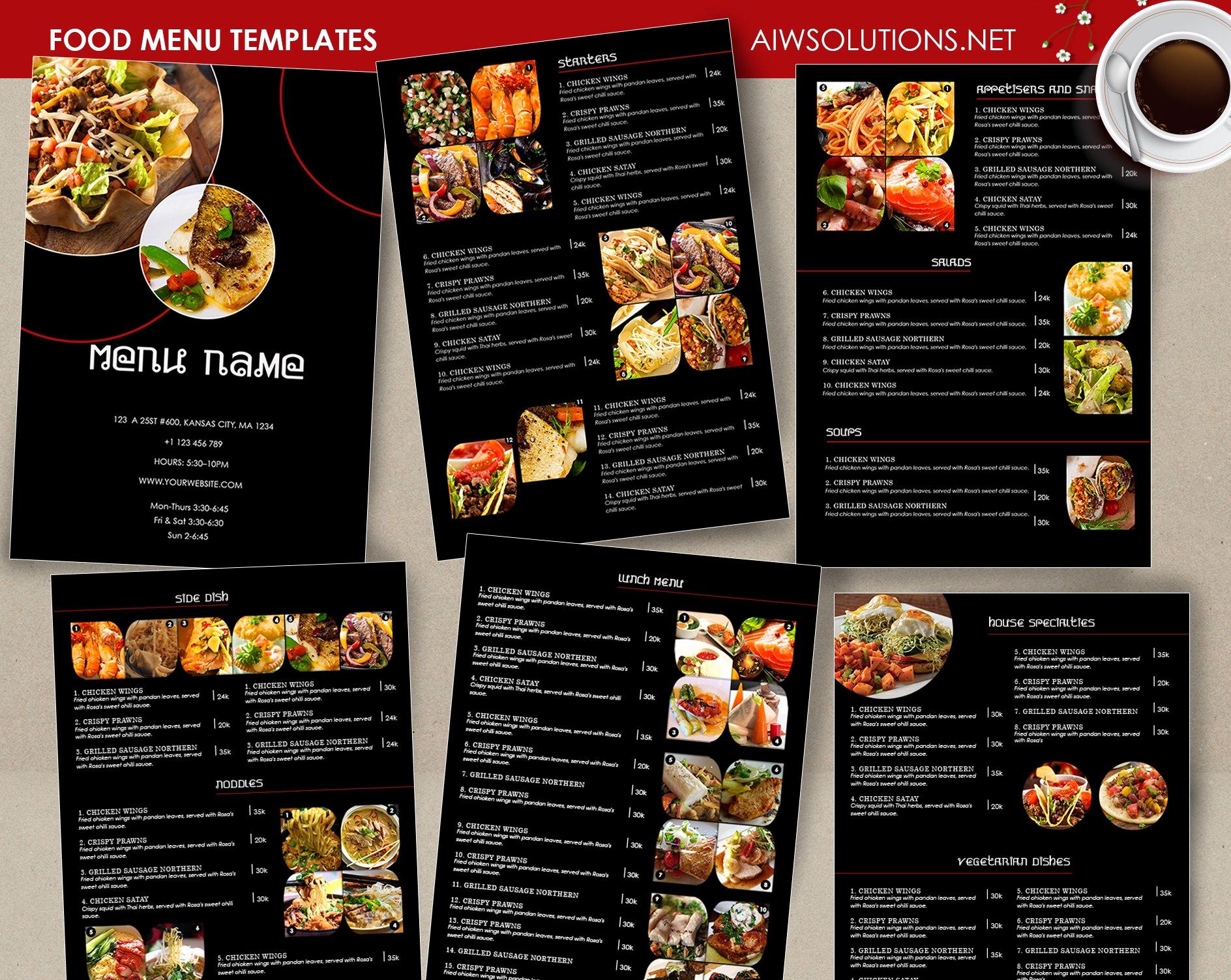Menu Design Ideas Template Elegant Food Menu Template Id26 Brochure Templates Creative Market