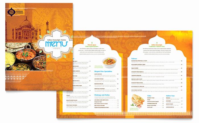 Menu Design Ideas Template Elegant Indian Restaurant Menu Template Design