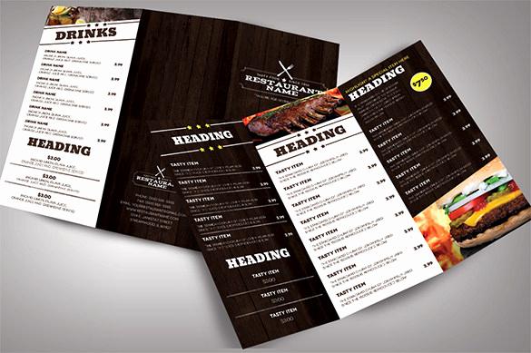 Menu Design Ideas Template Inspirational 33 Restaurant Brochure Templates Free Psd Eps Ai