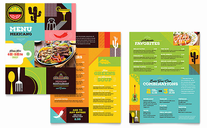 Menu Design Ideas Template Luxury Mexican Food & Cantina Menu Template Design