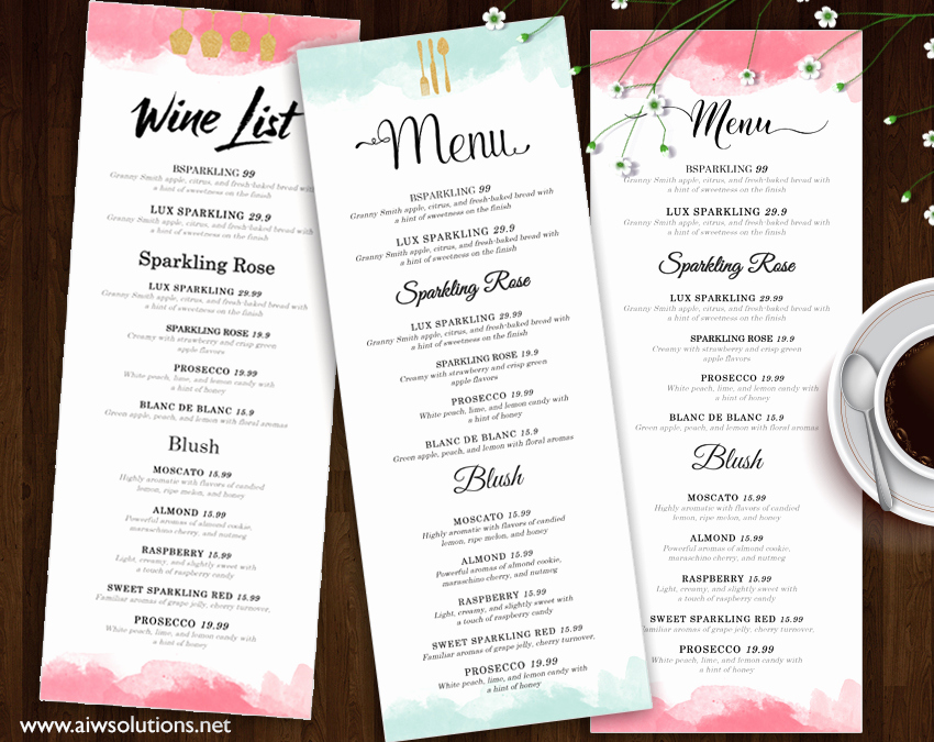 Menu Design Ideas Template New Design & Templates Menu Templates Wedding Menu Food