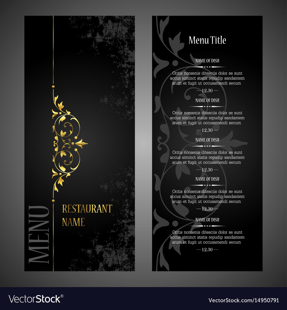 Menu Design Ideas Template New Restaurant Menu Design Template Luxury Style Vector Image