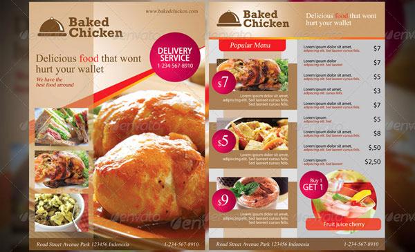 Menu Design Ideas Template Unique 20 Best Psd Restaurant Flyer Templates Designssave