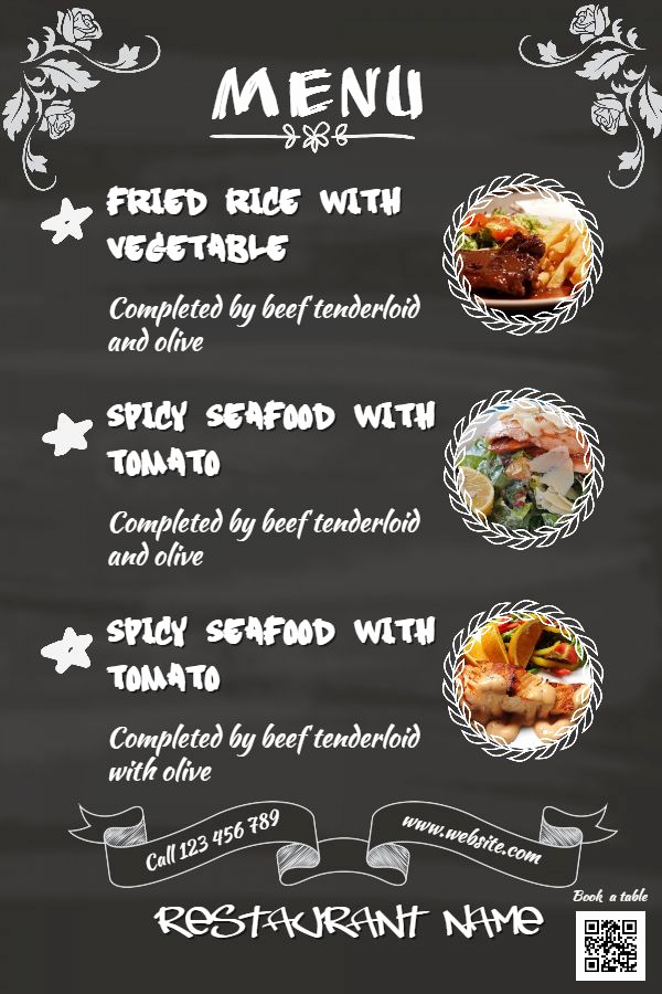 Menu Design Ideas Template Unique Chalkboard Menu Template to Customize