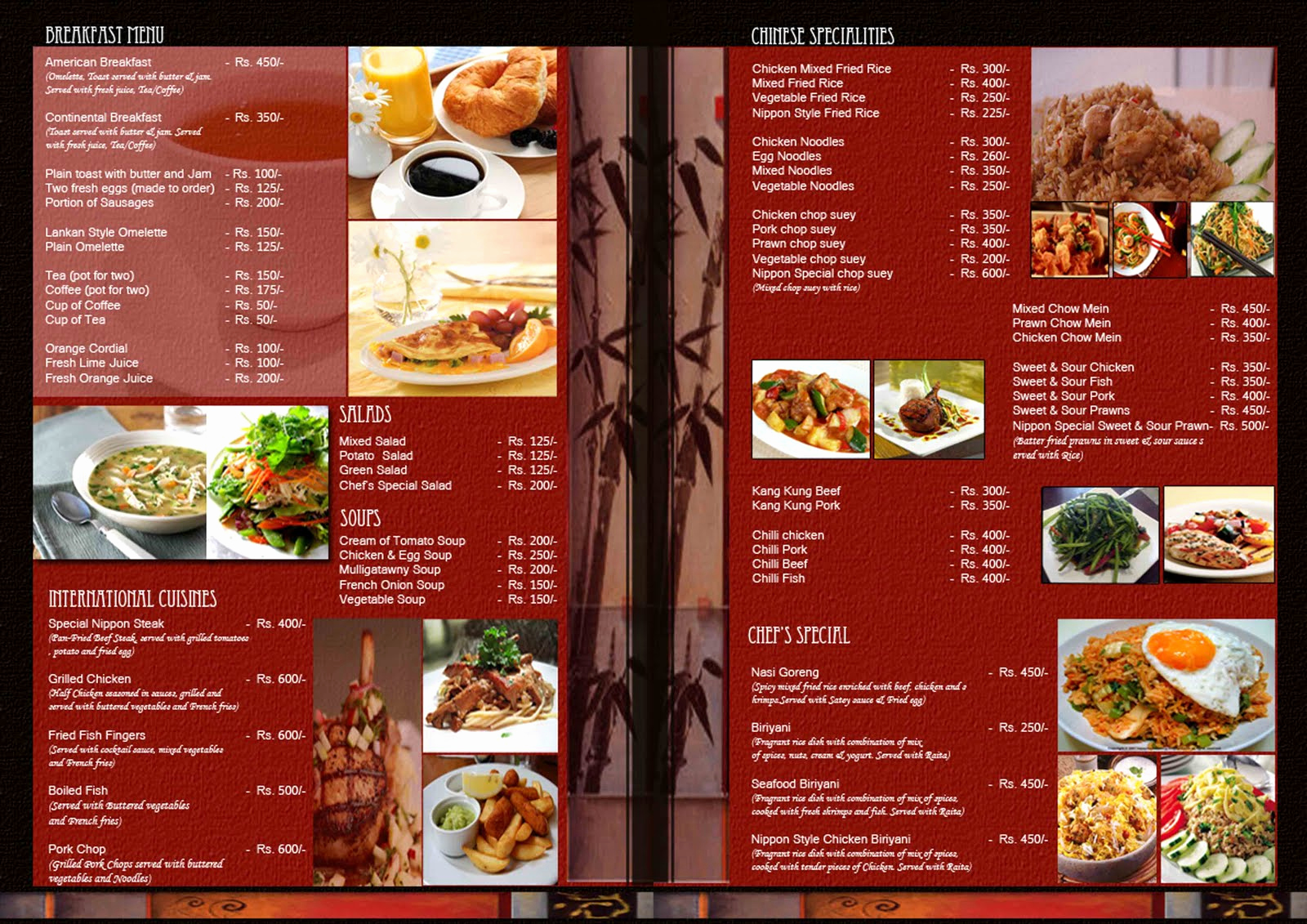 Menu Design Ideas Template Unique Kaleidoscope Restuarant Menu Design