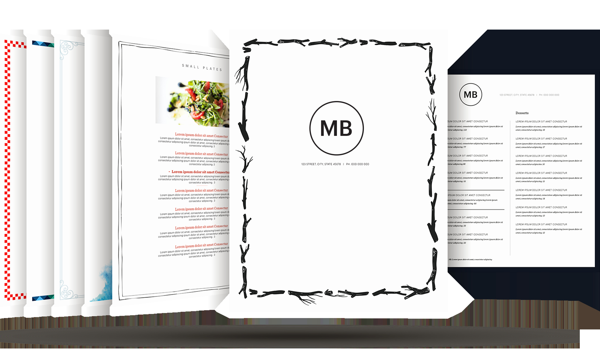 Menu Design Ideas Template Unique Restaurant Menu Template