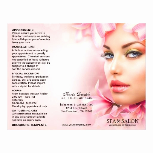 Menu Of Services Template New Spa and Salon Service Menu and Price List Template