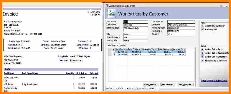 Microsoft Access Invoice Template Inspirational 10 Microsoft Access Billing Template