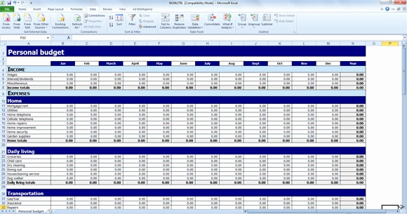 Microsoft Excel Budget Template Luxury Free Personal Bud Template for Excel