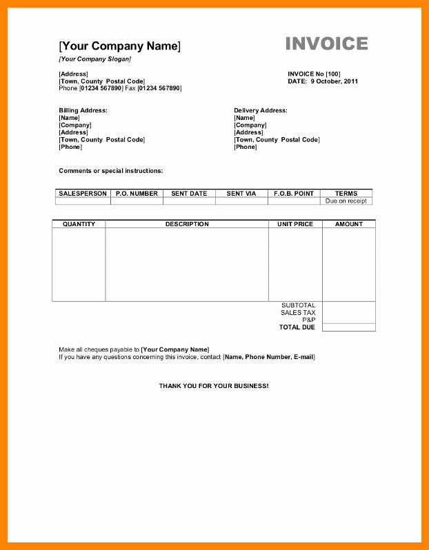Microsoft Invoice Template Free Awesome 11 Microsoft Word Receipt Templates