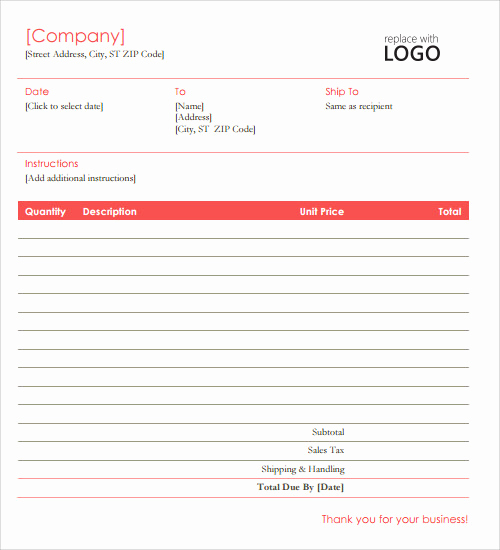 Microsoft Invoice Template Free Fresh Free Sample Microsoft Ms Word Templates In Ms Word