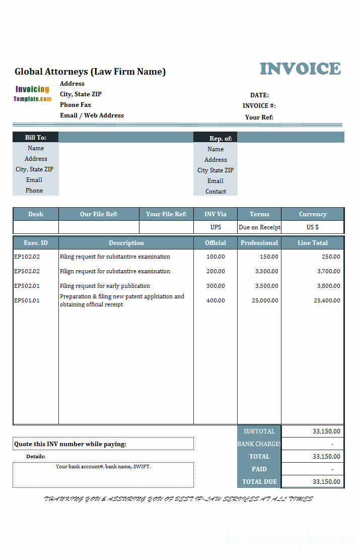 Microsoft Office Invoice Template Luxury 20 Microsoft Fice Invoice Templates Free Download