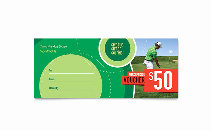 Microsoft Publisher Certificate Template Beautiful Golf tournament Gift Certificate Template Word & Publisher