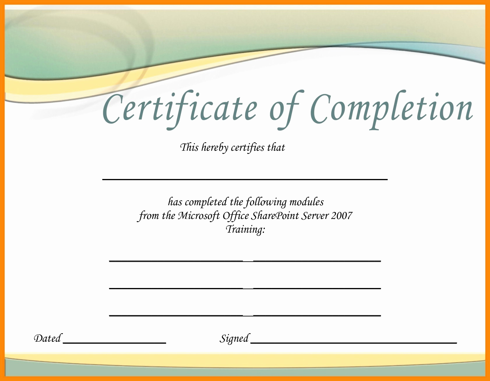 certificate template free publisher