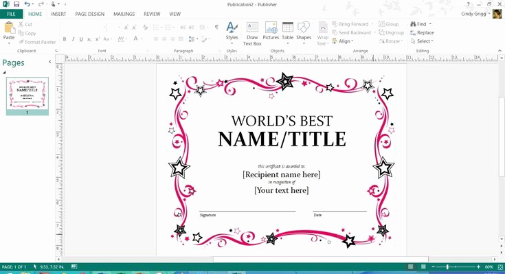 Microsoft Publisher Certificate Template Fresh Free Printable Microsoft Fice Templates for Mother S Day