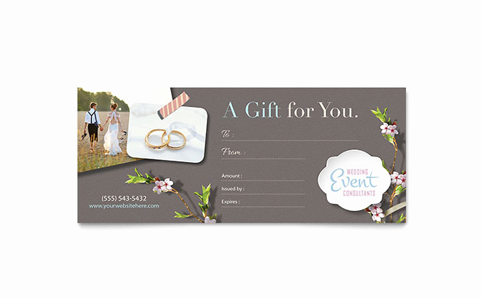 Microsoft Publisher Certificate Template Fresh Wedding Planner Gift Certificate Template Word & Publisher