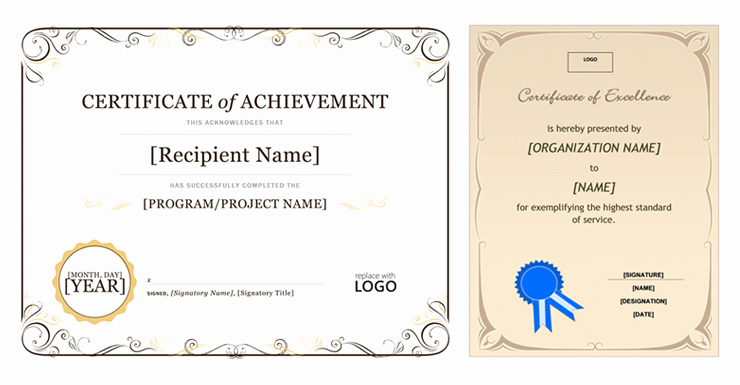 Microsoft Publisher Certificate Template Unique Certificate Template Fice