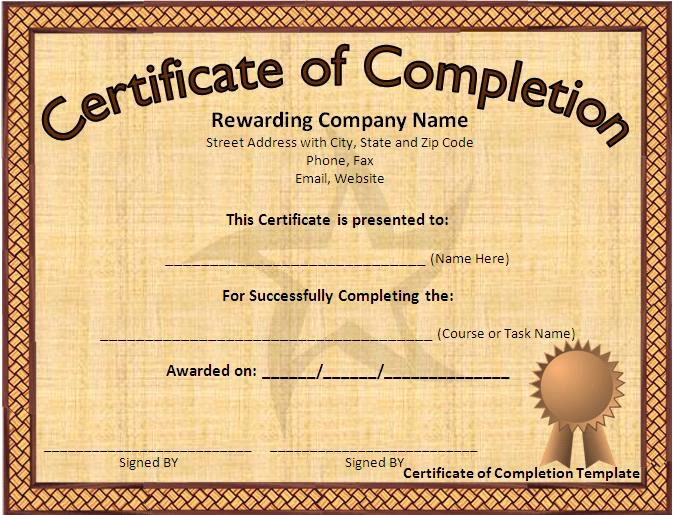 Microsoft Word Certificate Template Free Awesome 12 Certificate Templates Free Downloads