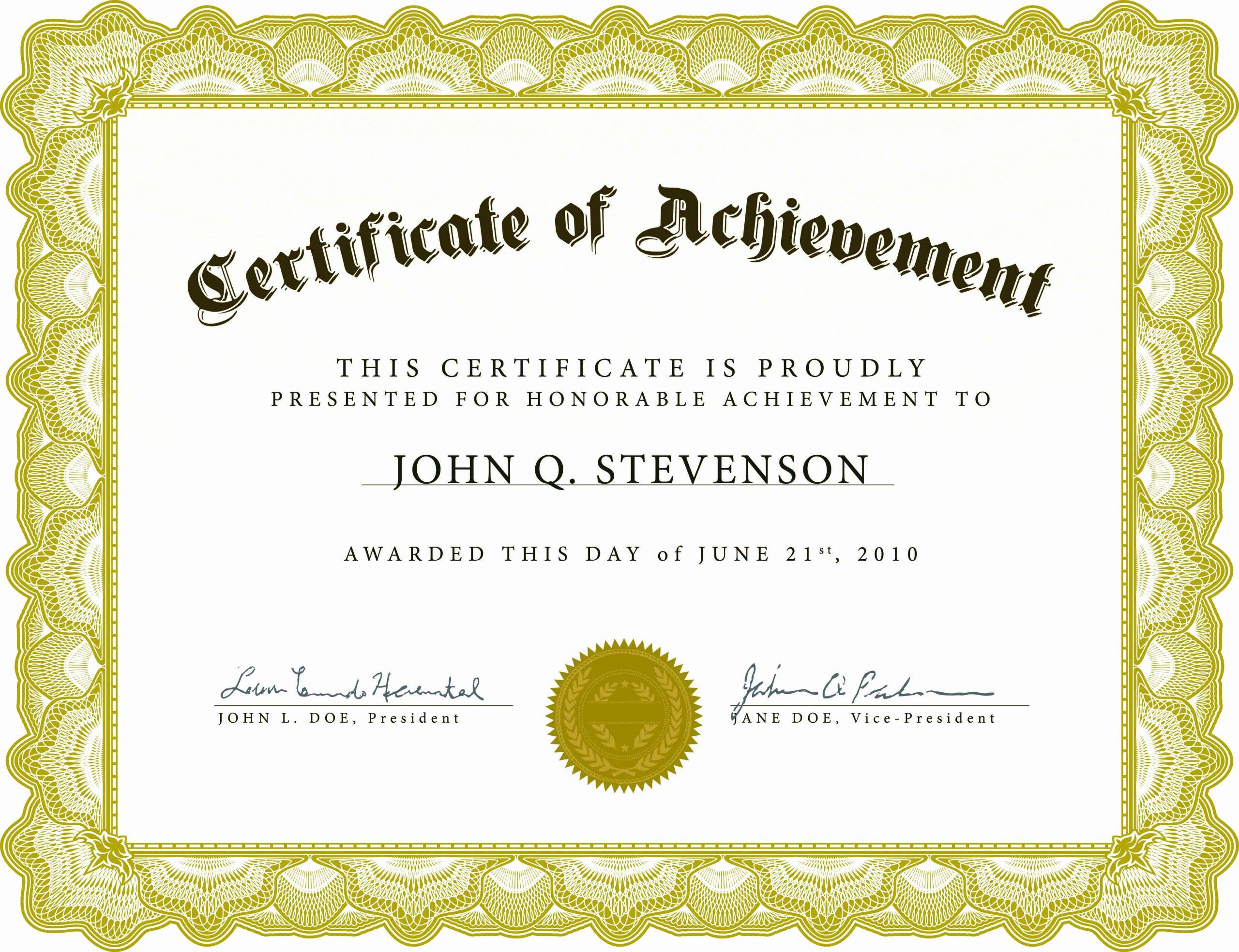 Microsoft Word Certificate Template Free Luxury Word Award Template Printable Rental Agreement Lease