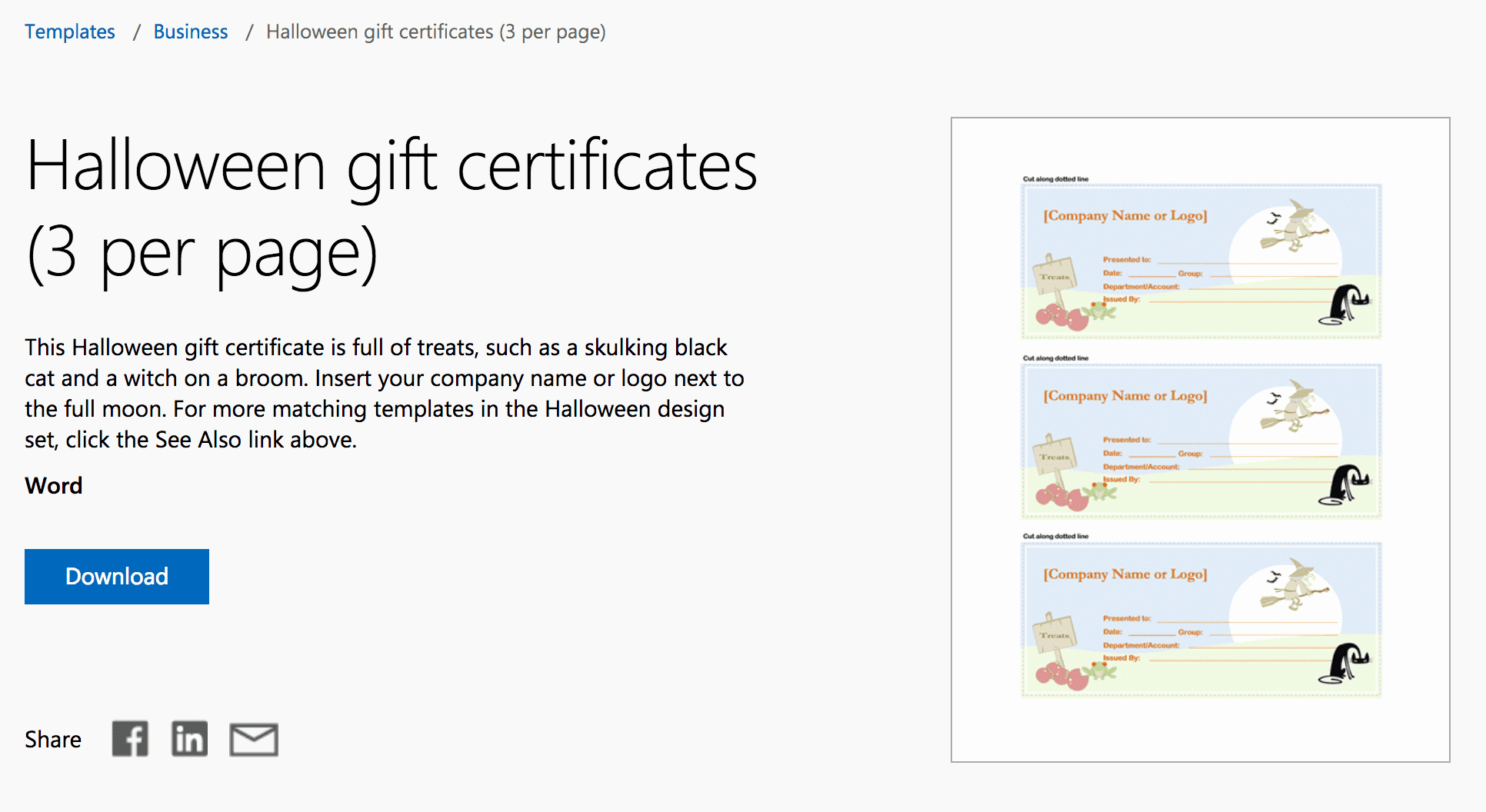 Microsoft Word Certificate Template Free New Gift Certificate Template 3 Per Page