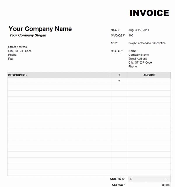 Microsoft Word Invoice Template Free Fresh Microsoft – Platte Sunga Zette