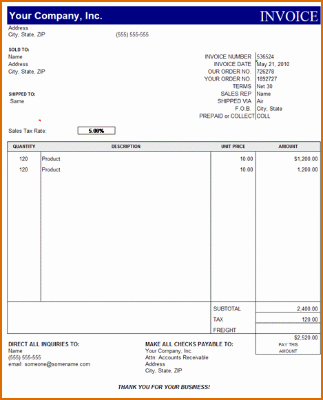 Microsoft Word Invoice Template Free New 15 Microsoft Office Invoice Template
