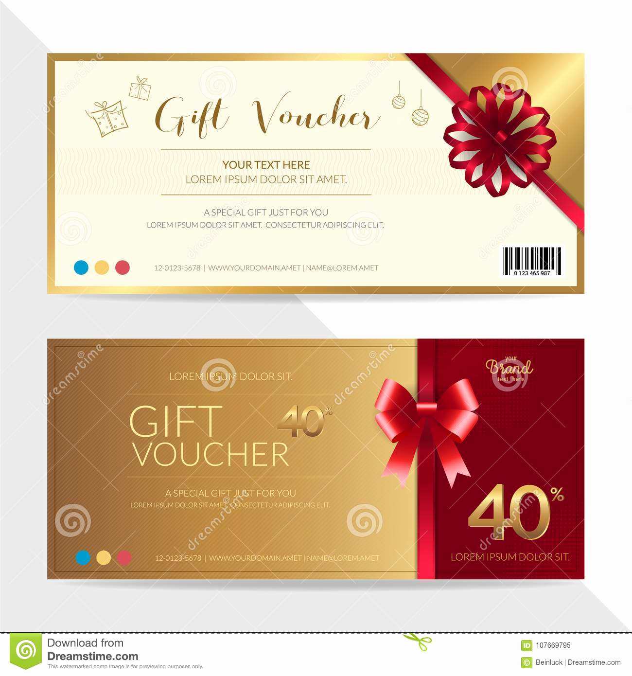 Money Gift Certificate Template Beautiful Gift Certificate Voucher Gift Card Cash Coupon