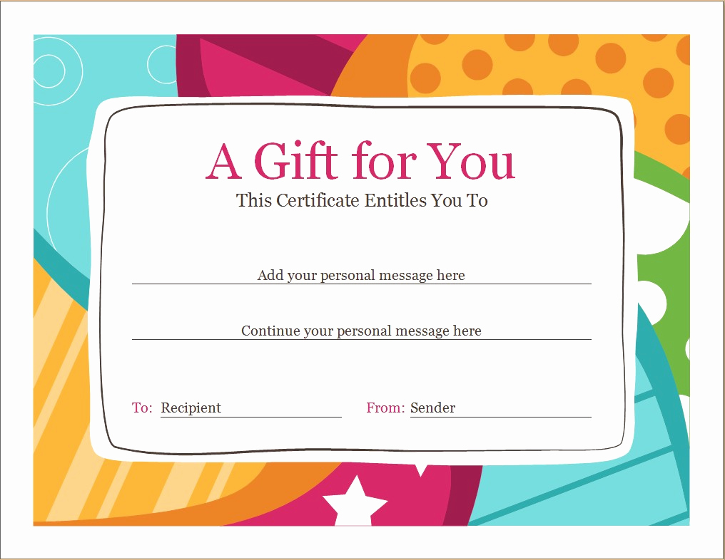 Money Gift Certificate Template Inspirational Birthday Voucher Template