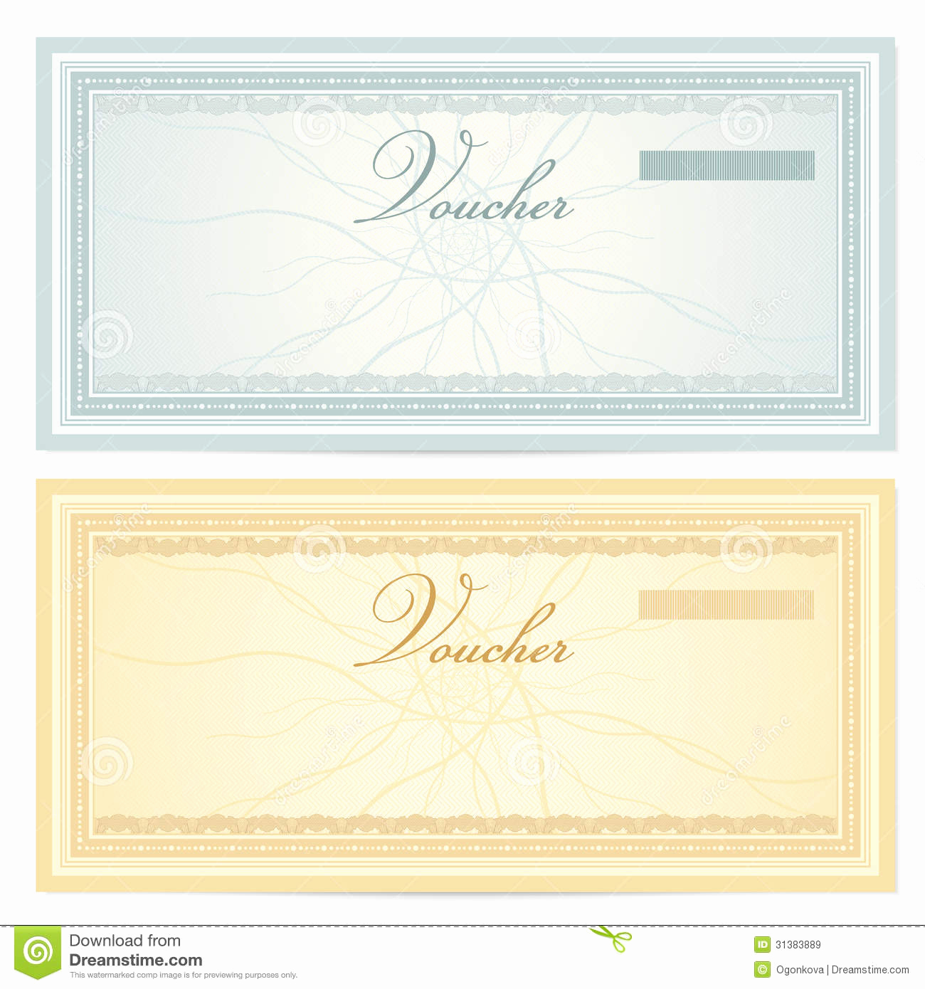 Money Gift Certificate Template Inspirational Gift Certificate Voucher Template Pattern Stock Vector