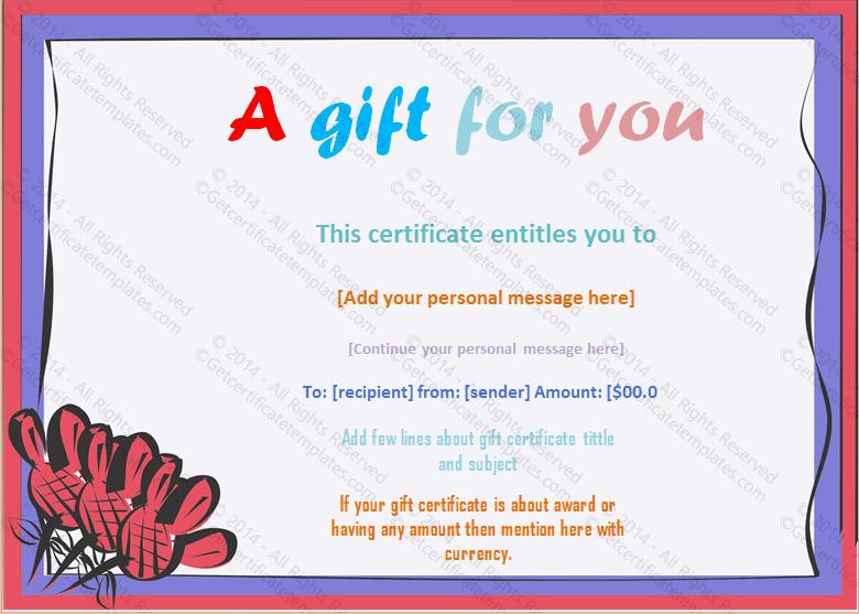 Money Gift Certificate Template Lovely Artistic Frame Gift Certificate Template
