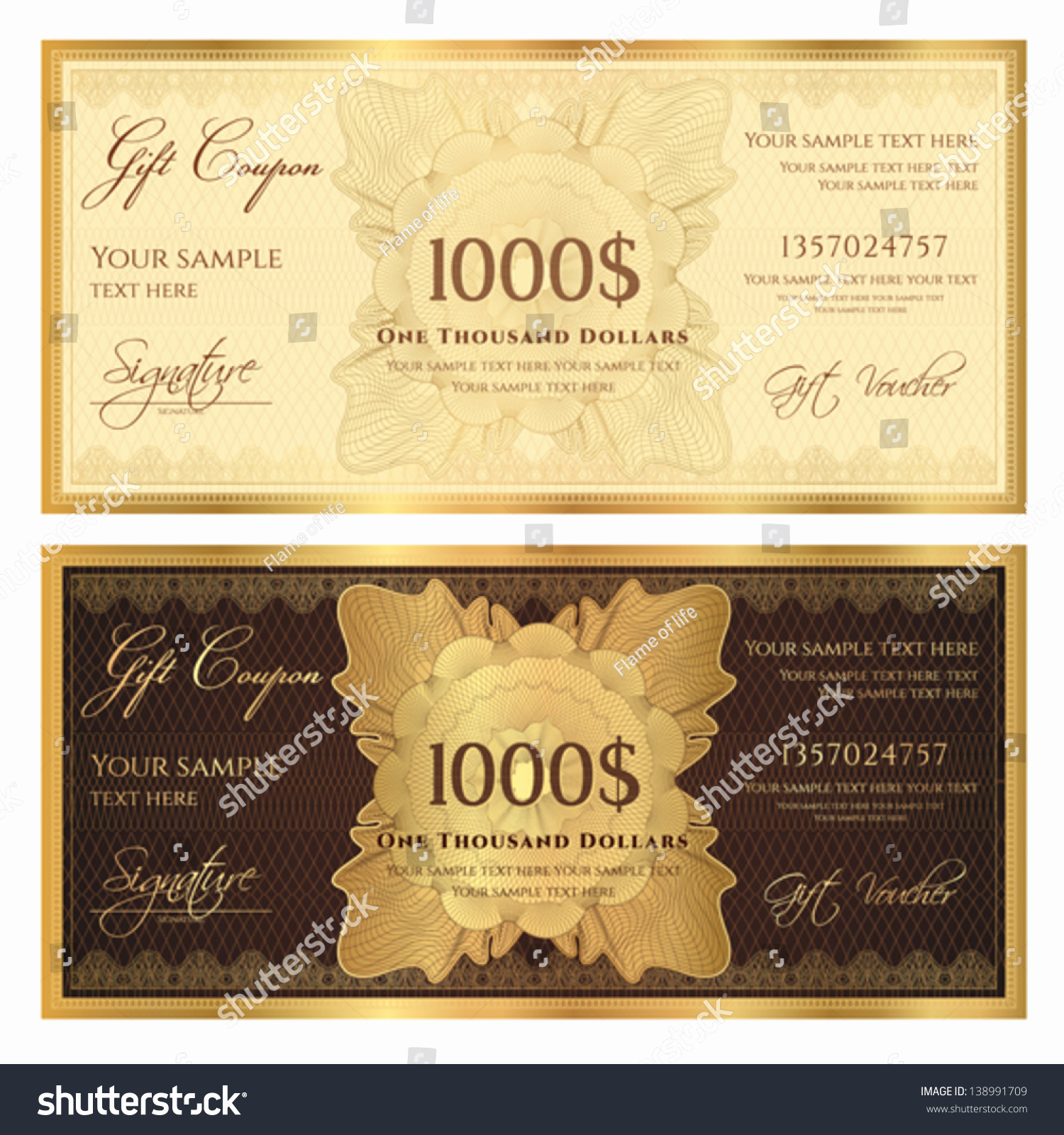Money Gift Certificate Template Lovely Gift Certificate Voucher Template with Guilloche Pattern