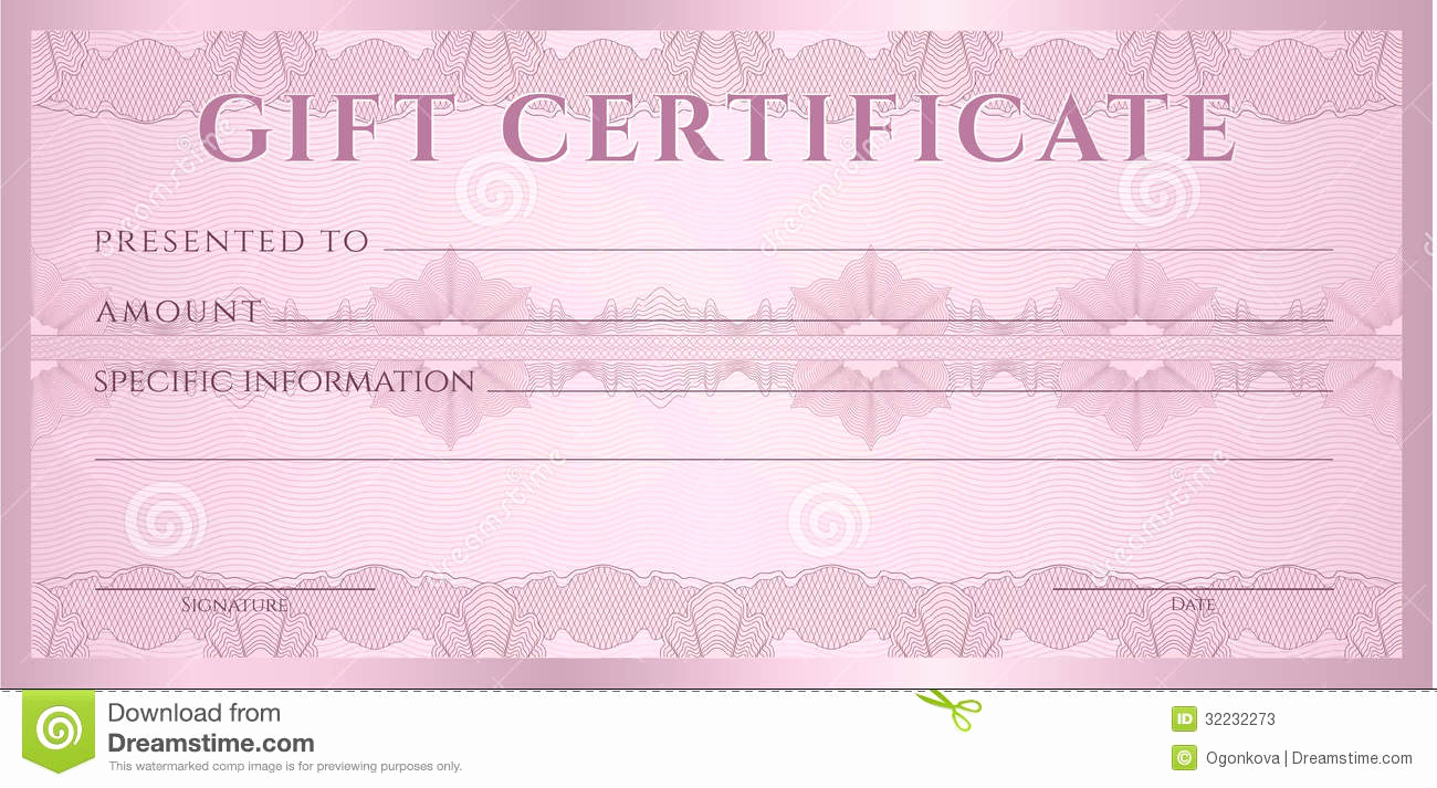 Money Gift Certificate Template Luxury Gift Certificate Voucher Coupon Template Stock S