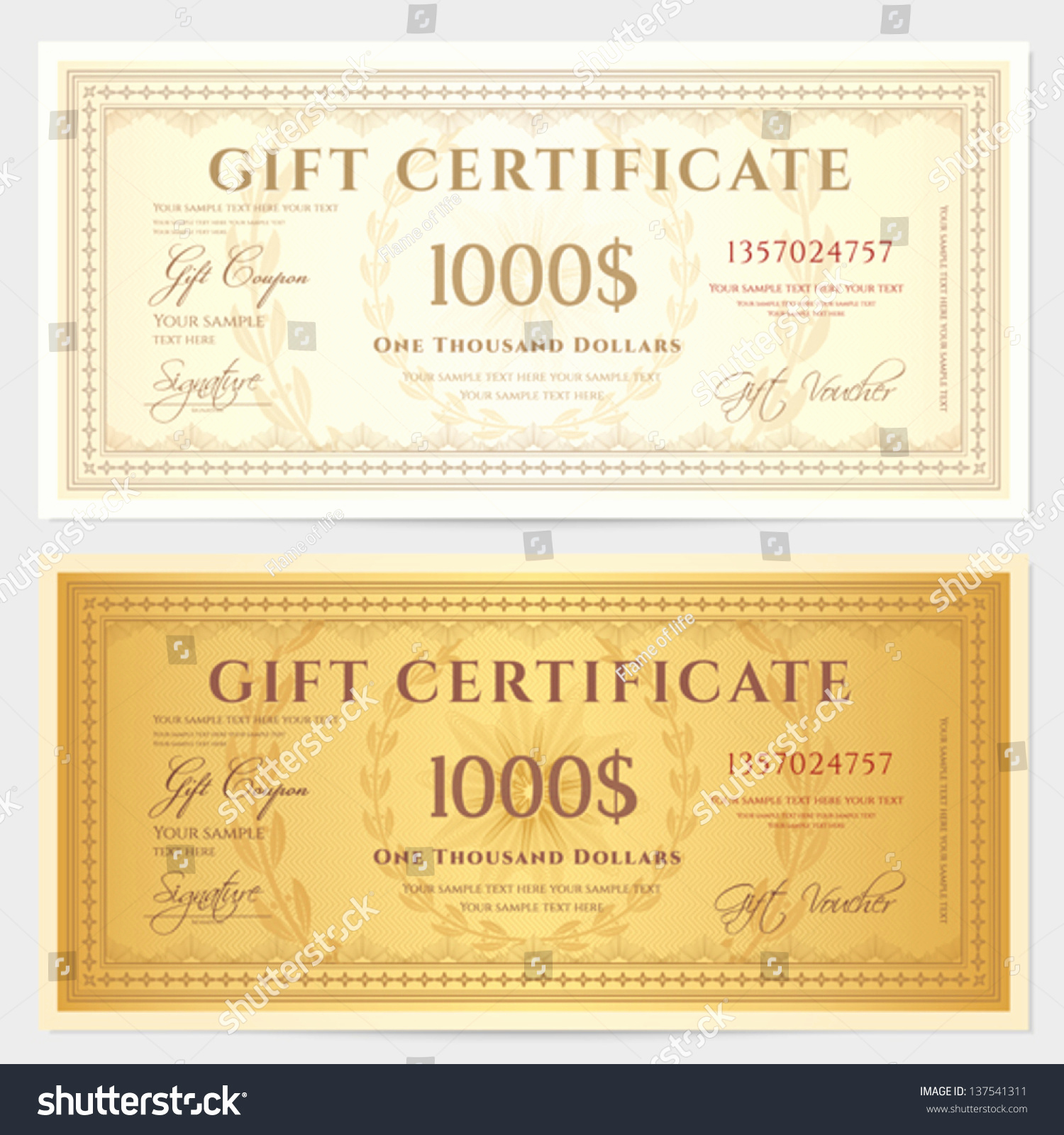 Money Gift Certificate Template New Gift Certificate Voucher Template with Guilloche Pattern