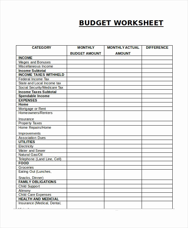 Monthly Budget Template Pdf Awesome Pin Di Bud Template