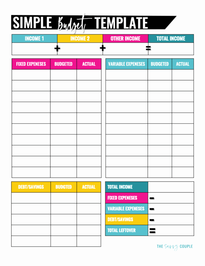 Monthly Budget Template Pdf Beautiful 10 Bud Templates that Will Help You Stop Stressing