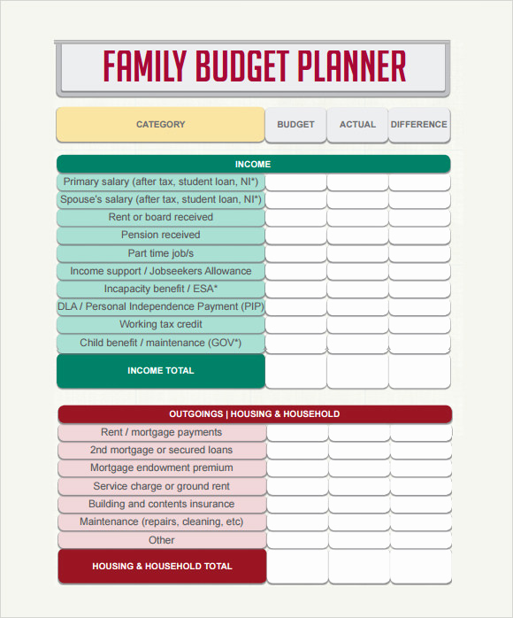 Monthly Budget Template Pdf Fresh Bud Planner Template Uk – Printable Planner Template