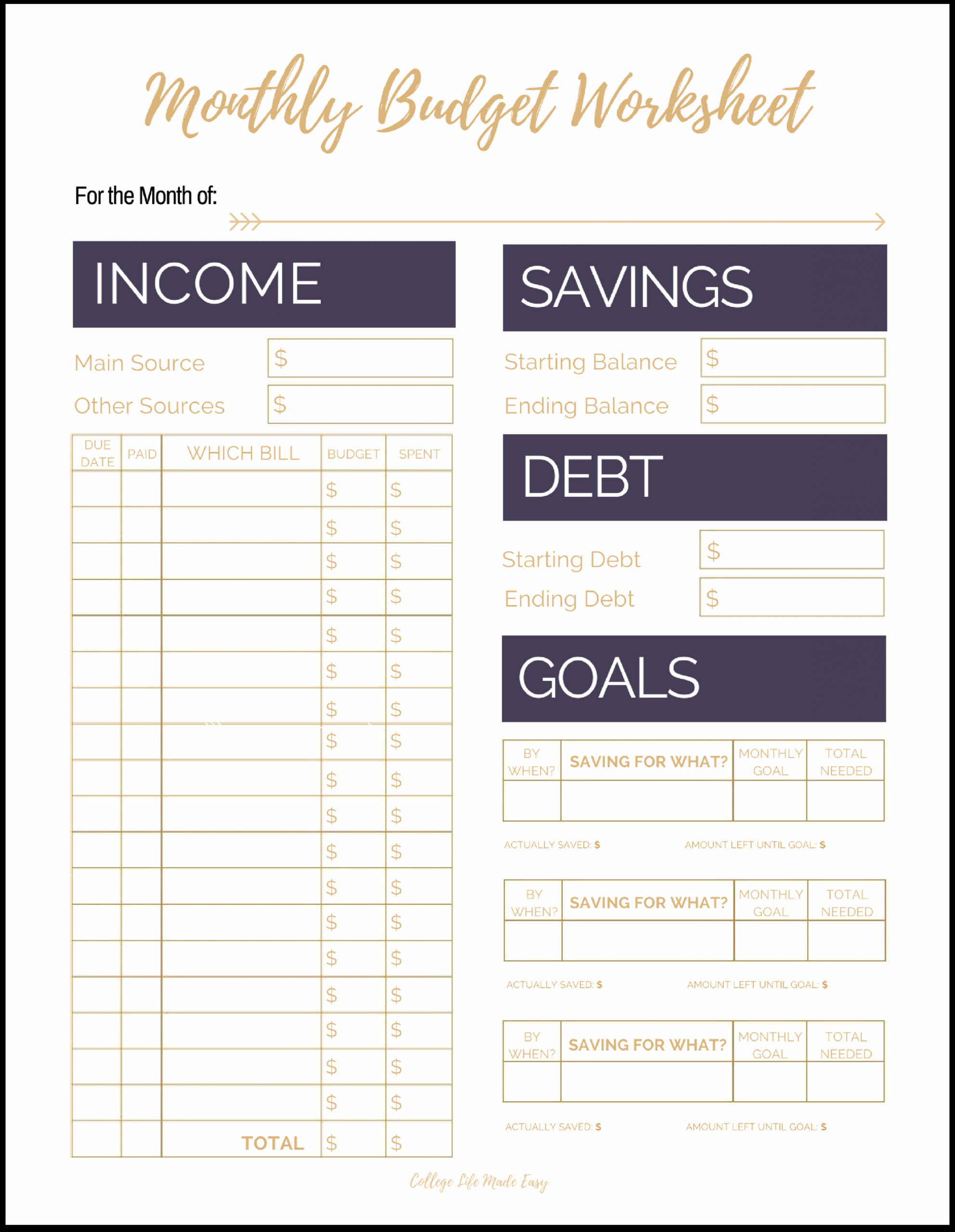 Monthly Budget Template Pdf Luxury Fix Your Finances asap with My Free Simple Monthly