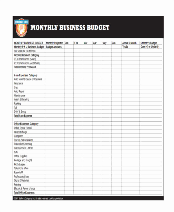 Monthly Budget Template Pdf New 26 Bud Templates In Pdf
