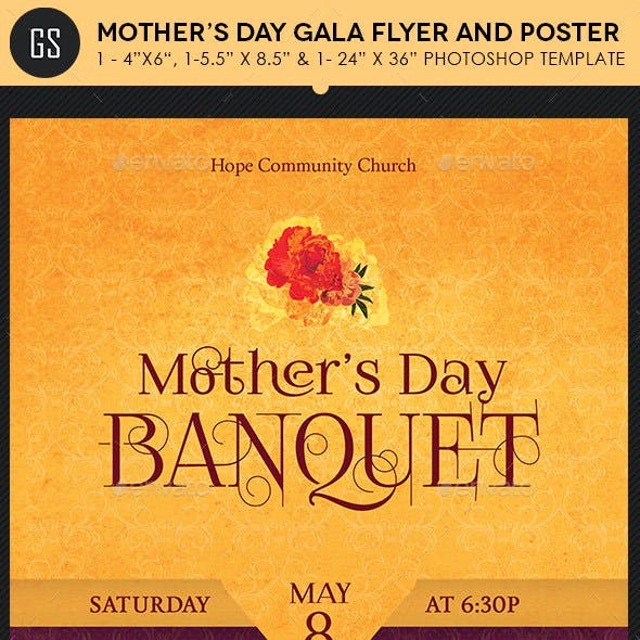 Mothers Day Menu Template Awesome Mothers Day Flyer Template Graphics Designs & Templates