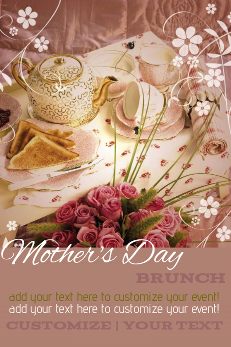 Mothers Day Menu Template Beautiful Mother S Day Brunch event Flyer Template