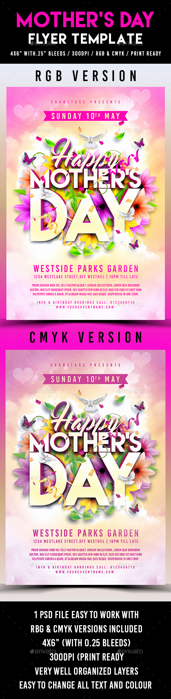 Mothers Day Menu Template Best Of Mother S Day Flyer Template by Crabsta52