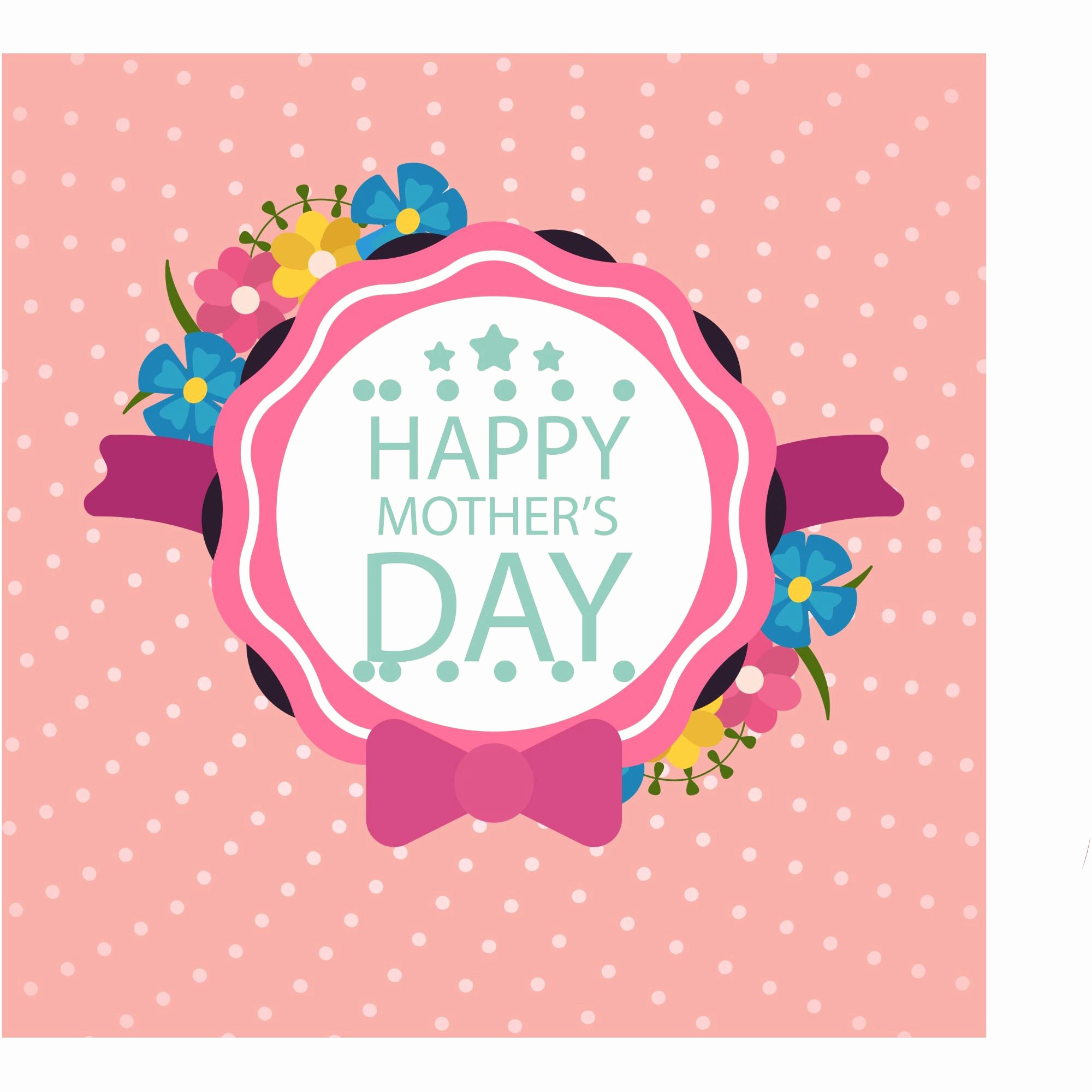 Mothers Day Menu Template Elegant Happy Mother S Day Layout Design with Roses Lettering