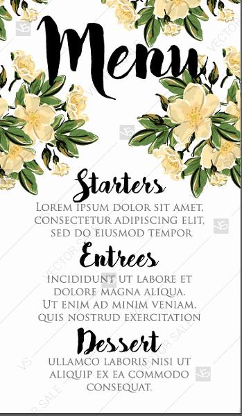 Mothers Day Menu Template Inspirational Menu Wedding Invitation Vector Card Template Romantic