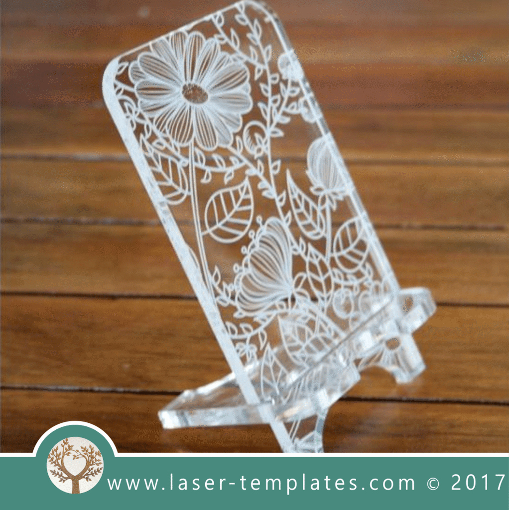 Mothers Day Menu Template New Cell Phone Stand Laser Cut Floral Template Pattern
