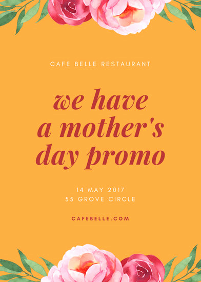 Mothers Day Menu Template New Customize 87 Restaurant Flyer Templates Online Canva