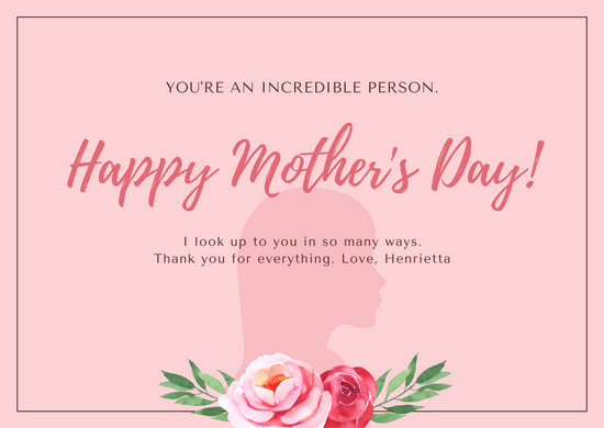 Mothers Day Menu Template New Customize 951 Mother S Day Card Templates Online Canva