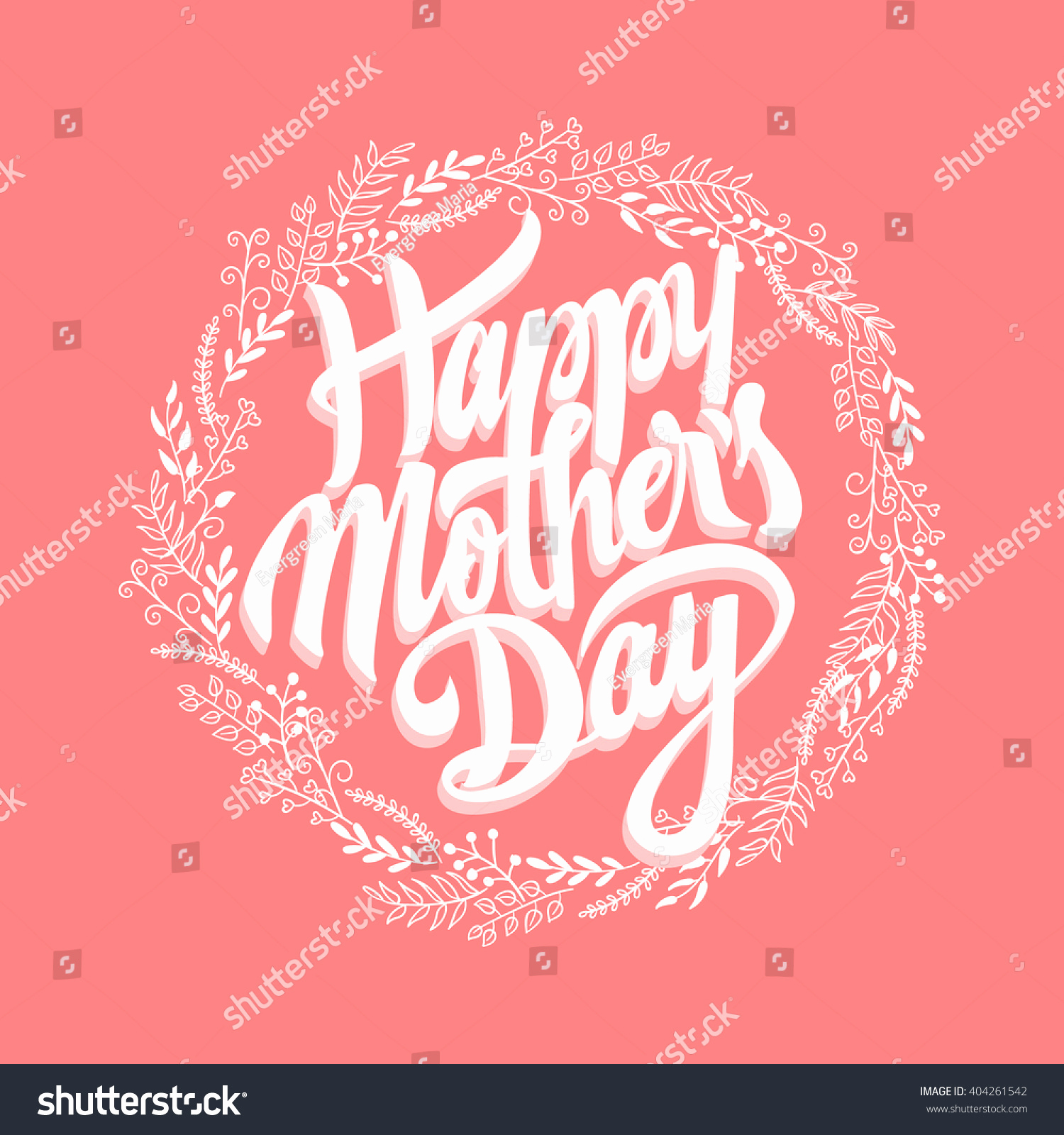 Mothers Day Menu Template New Happy Mothers Day Design Elements Vector Stock Vector
