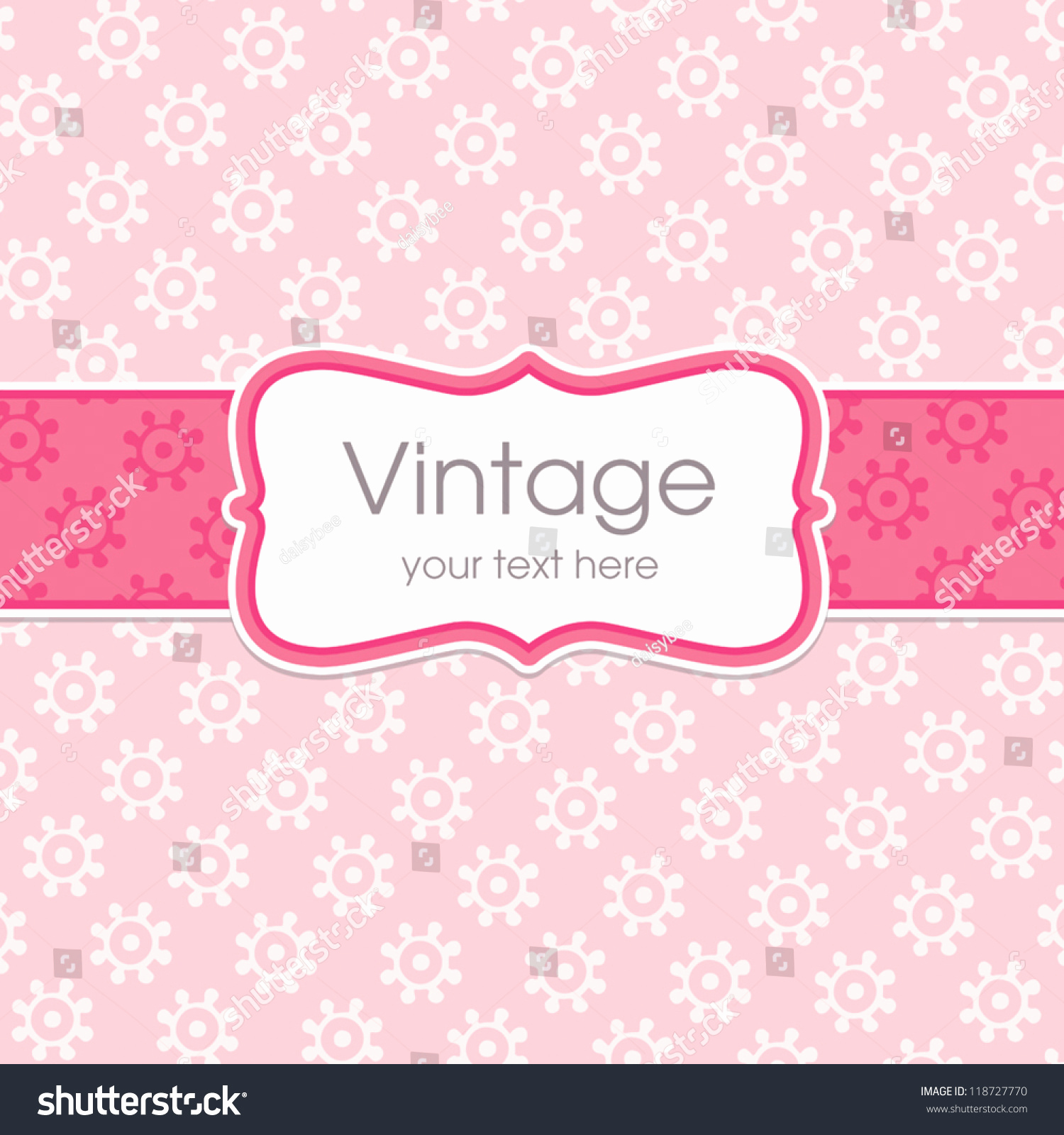 Mothers Day Menu Template New Vector Greeting Card Template Sweet Vintage Stock Vector