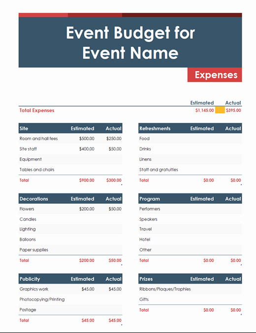 Ms Office Budget Template Lovely Personal Bud Fice Templates